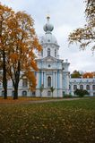 Smolny-Architekturensemble, St Petersburg Stockbild
