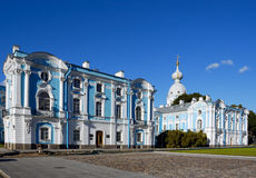 Smolny Cathedra, Rusland. B Stock Foto