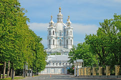 The Smolny Cathedral Royalty Free Stock Images