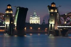 Smolny cathedral stock photography