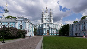 Smolny Cathedral Complex, St. Petersburg stock video footage