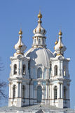 Smolny Cathedral of the Resurrection Stock Photos