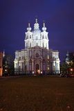 The Smolny Cathedral in Saint Petersburg Royalty Free Stock Images