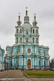 Smolny Cathedral,Saint Petersburg,Russia Royalty Free Stock Photo