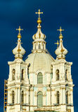 Smolny Cathedral in Saint Petersburg Royalty Free Stock Images