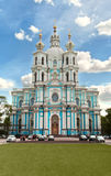 Smolny cathedral, in Saint Petersburg, Russia Stock Photography