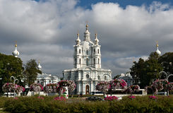 Smolny cathedral in Saint-Petersburg Royalty Free Stock Photo