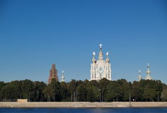 Smolny Cathedral in Saint Petersburg Stock Image