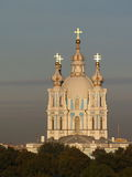 Smolny Cathedral in Saint Petersburg Stock Photos