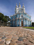 Smolny cathedral and square Royalty Free Stock Images