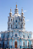 Smolny cathedral in st. Petersburg Stock Photography