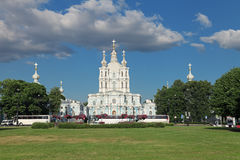The Smolny Cathedral Royalty Free Stock Photo