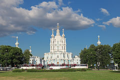 The Smolny Cathedral Royalty Free Stock Photos