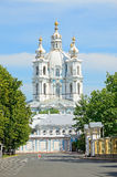 Smolny Cathedral in St. Petersburg, Russia Royalty Free Stock Photo