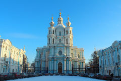 Smolny Cathedral. St.Petersburg, Russia. Royalty Free Stock Photos