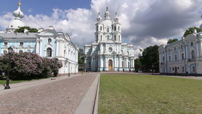 The Smolny Cathedral stock video