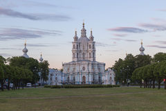 Smolny Cathedral in St.Petersburg, Russia Stock Photography
