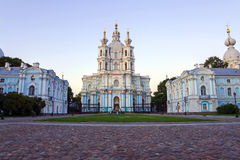 Smolny Cathedral, St. Petersburg (white night) Royalty Free Stock Photography