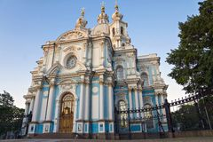 Smolny Cathedral, St. Petersburg (white night) Stock Photography