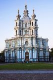 Smolny Cathedral, St. Petersburg (white night) Royalty Free Stock Photo