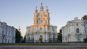 Smolny Cathedral, St. Petersburg (white night) Stock Photo