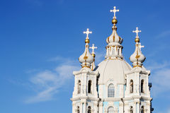 Smolny Cathedral on a sunny summer day Stock Photography