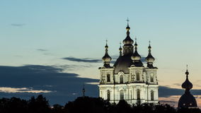 Smolny Cathedral View in White Nights stock footage