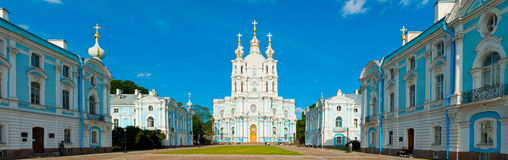 Smolny Convent of the Resurrection. A Smolny Convent of the Resurrection in downtown Saint Petersburg, Russia Royalty Free Stock Images
