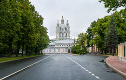 Smolny Convent of the Resurrection Stock Image
