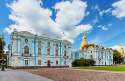 Smolny Convent of the Resurrection in Saint Petersburg Stock Photography