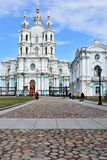 Smolny Convent of the Resurrection in St. Petersburg, Russia Royalty Free Stock Photos
