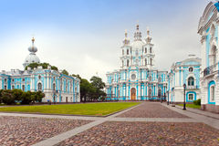 Smolny Convent. St. Petersburg.City landscape Royalty Free Stock Photography