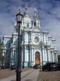 Smolny domkyrka, St Petersburg i dag Royaltyfri Fotografi