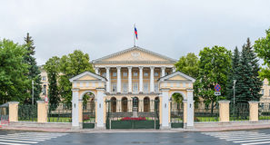 Smolny Institute. Front side of the Smolny Institute in downtown Saint Petersburg, Russia stock photos