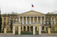 The Smolny Institute for noble maidens. 02.04.2017.Russia.Saint-Petersburg.The Smolny Institute for noble maidens was the first women`s educational institution Stock Image