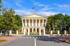 Smolny institute, St. Petersburg, Russia. Smolny institute in St. Petersburg, Russia royalty free stock images
