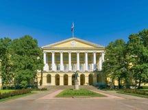 Smolny Institutebyggande Royaltyfria Foton