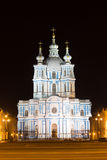 Smolny katedra iluminująca saint petersburg Obrazy Royalty Free