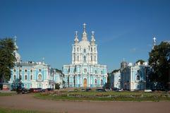 Smolny Kathedrale Lizenzfreie Stockbilder