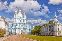 Smolny-Kathedrale - orthodoxe Kirche des Smolny-Klosters, Heiliges Stockbilder