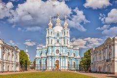 Smolny-Kathedrale - orthodoxe Kirche des Smolny-Klosters, St.-PET Stockfotos