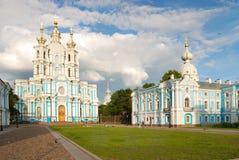 Smolny Kathedrale in St Petersburg Stockfotografie