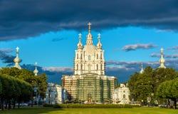 Smolny-Kathedrale in St Petersburg Lizenzfreie Stockfotografie