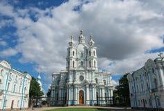 Smolny-Kathedrale, St Petersburg, Russland Stockfotos