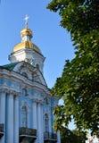Smolny-Kloster oder Smolny-Kloster der Auferstehung Voskresensky stockfotos