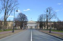 Smolny Palace in St. Petersburg Stock Photos