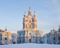 smolny petersburg russia saint Royaltyfri Bild