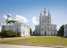 Smolnyi  cathedral (Smolny Convent), St. Petersburg Stock Photos