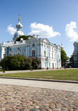 Smolnyi  cathedral (Smolny Convent), St. Petersburg Royalty Free Stock Photo