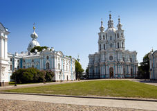 Smolnyi  cathedral (Smolny Convent), St. Petersburg Stock Images